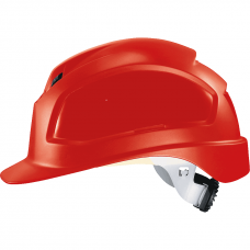 9772.330 Каска защитная UVEX Феос B-WR, с храповиком, красная