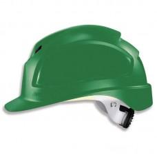 9772.430 Каска защитная UVEX Феос B-WR, с храповиком, зеленая